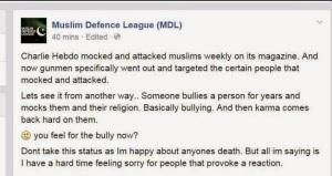 MDL praising the Paris killers
