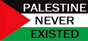 palestine-never-existed-stamped-on-flag