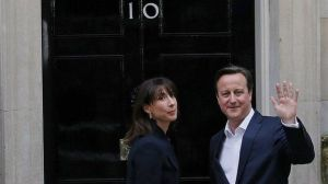 PM David Cameron is looking pretty happy...