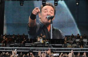 Look, it's Hero of Socialist Labor Bruce Springsteen. This man needs you to buy his albums for $9.99. Remember, he cares about the proles.