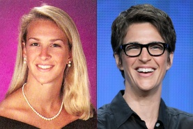 rachel-maddow-yearbook-high-school-young-red-carpet-photo-split